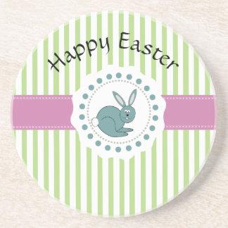 Trendy cute Easter cartoon funny bunny Beverage Coasters