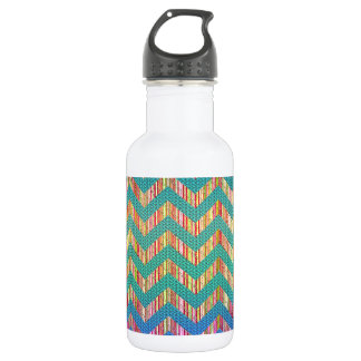 Trendy Cute Pastel Zig Zag 532 Ml Water Bottle