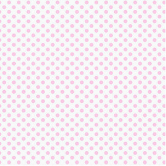 Trendy Cute Pink White Polka Dots Pattern Standing Photo Sculpture