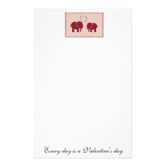 Trendy cute romantic elephants in love patchwork customized stationery