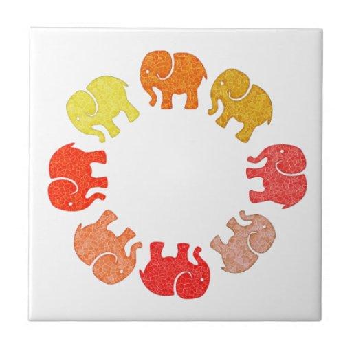 Trendy cute stylish  monogram elephants ceramic tiles