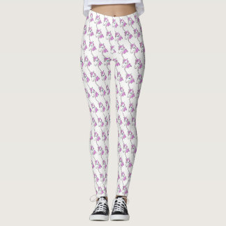 Trendy Cute Unicorn Head Pattern Leggings