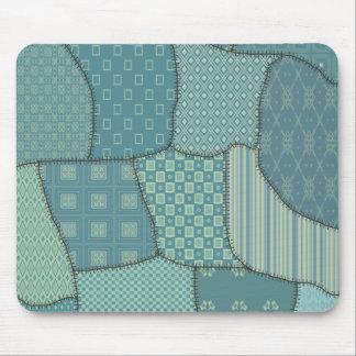Trendy cute vintage elegant colorful patchwork mouse pads