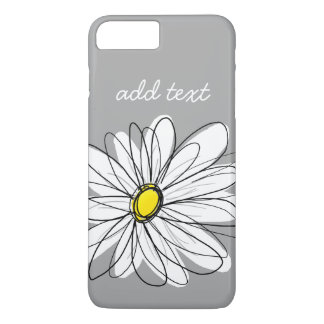 Trendy Daisy with gray and yellow iPhone 8 Plus/7 Plus Case