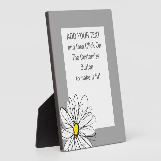 Trendy Daisy with gray and yellow Plaque
