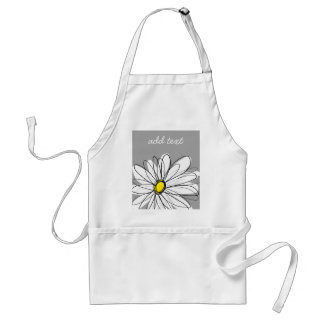 Trendy Daisy with gray and yellow Standard Apron