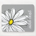 Trendy Daisy with grey and yellow Mouse Mat