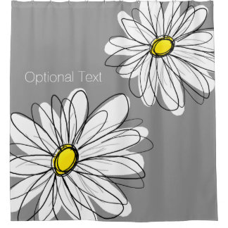 Trendy Daisy yellow U can change background color Shower Curtain