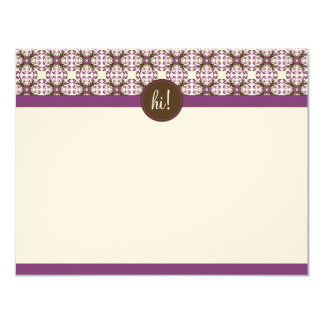 Trendy Decorative Flat Note Cards (GGs) 11 Cm X 14 Cm Invitation Card