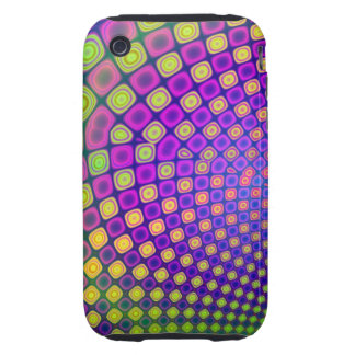 Trendy Decorative Patterns iPhone 3 Tough Cover