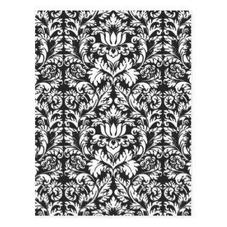 Trendy Decorator Floral Damask Trellis Pattern Post Cards