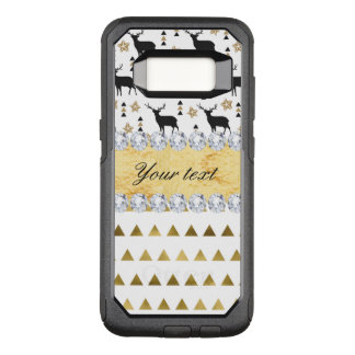 Trendy Deer Triangles Pattern and Diamonds OtterBox Commuter Samsung Galaxy S8 Case