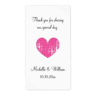 Trendy DIY wedding party wine water bottle labels