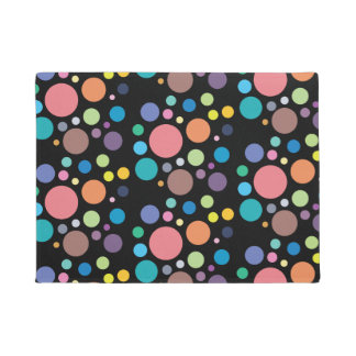 Trendy Door Mat Rainbow Polka Dot