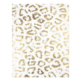 Trendy elegant faux gold modern animal print 21.5 cm x 28 cm flyer