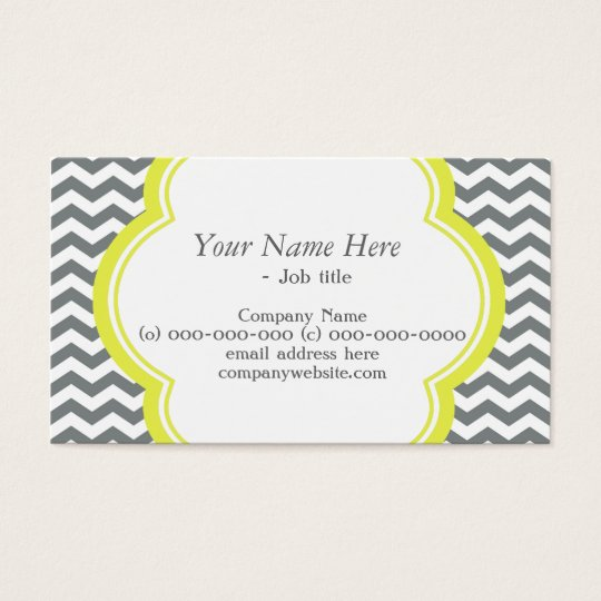 Trendy, elegant, modern grey and white chevron business card