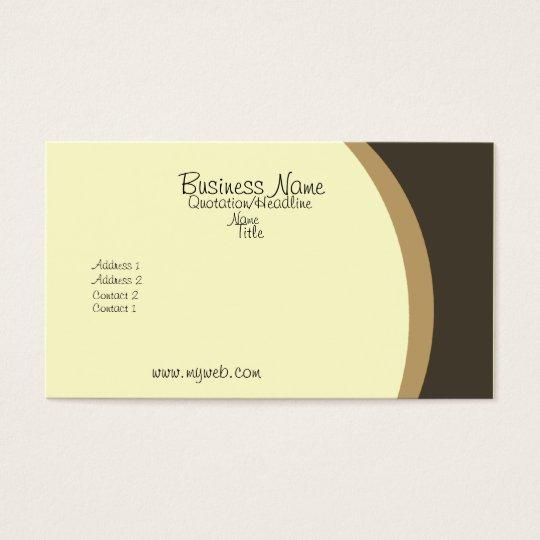 Trendy Elegant Yellow Golden Brown Business Card