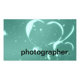 Trendy Emerald Green Romantic Hearts Business Card Templates