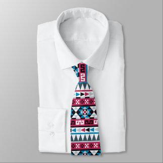 Trendy Ethnic Aztec Geometric Pattern Tie