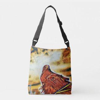 Trendy fantasy Raven crossbody handbag