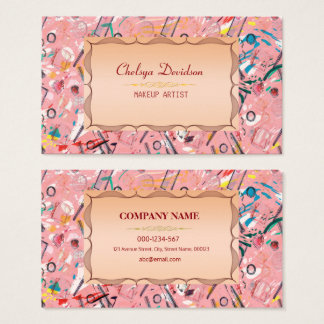 Trendy Fashion and  Make  up spa Artist Business Card