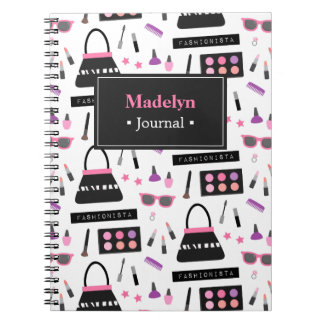 Trendy Fashion Fashionista Makeup Girls Notebook