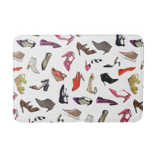 Trendy fashion shoes bathmat rug