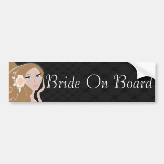 Trendy Fashionista Bride Bridal Shower Bumper Sticker
