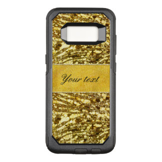 Trendy Faux Gold Foil Zebra Stripes OtterBox Commuter Samsung Galaxy S8 Case