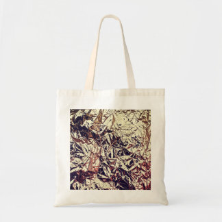 Trendy Faux Gold Leaf Crumbly Foil Tote Bag