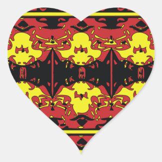 Trendy fire heart sticker