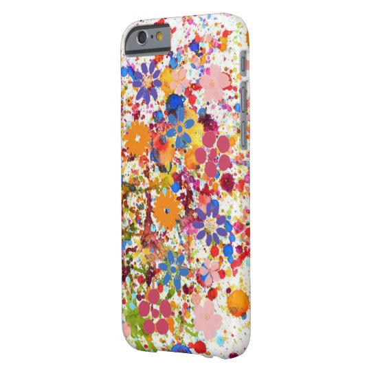 Trendy floral colourful iPhone 6/6s, Barely There Barely
