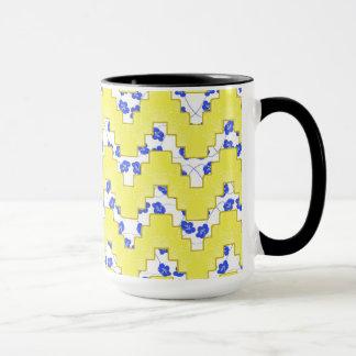 Trendy Floral Pastel Zig Zag Mug