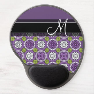 Trendy Floral Pattern - Orchid and Lime Green Gel Mouse Mat