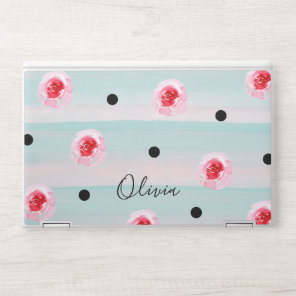 Trendy Floral Rose Pattern HP Laptop Skin