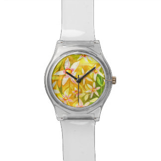 Trendy Floral Watercolour Watch