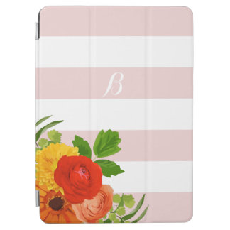 Trendy Flowers And Stripes iPad Air Cover
