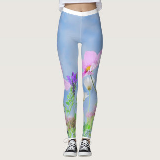 Trendy Flowers put-went Leggings