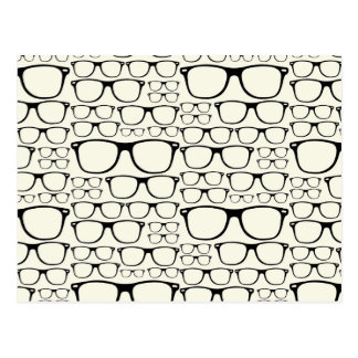 Trendy Funky Nerd Nerdy Geek Retro Glasses Postcard