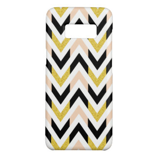 Trendy Geometric Faux Glitter Chevron Pattern Case-Mate Samsung Galaxy S8 Case