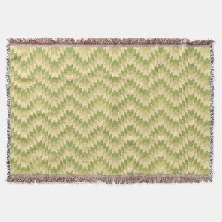 Trendy geometric green chevron pattern