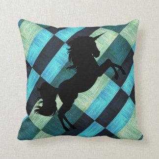 Trendy geometric unicorn cushion