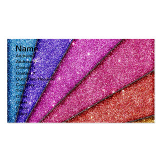 Trendy Geometrical Glitter Stripes Pack Of Standard Business Cards