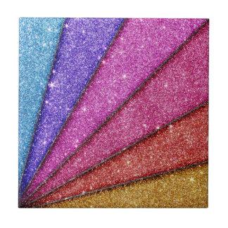 Trendy Geometrical Glitter Stripes Ceramic Tiles