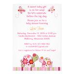 Trendy Girl Turtle Baby Shower Invitations