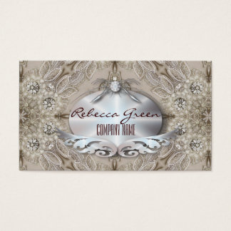 Trendy Girly Chic Gatsby Fashion Paris Lace Business Card