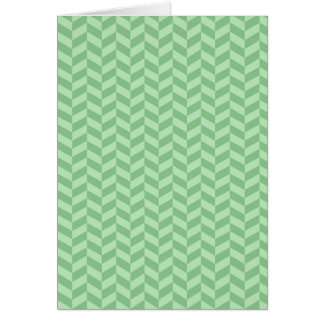 Trendy Girly Green Zig Zags Pattern Stripes Greeting Card