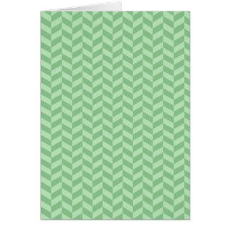 Trendy Girly Green Zig Zags Pattern Stripes Greeting Card
