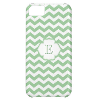 Trendy girly lime green chevron zigzag pattern iPhone 5C covers
