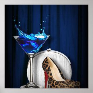 trendy girly martini leopard print Stiletto